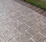 stencilled & stamped concrete